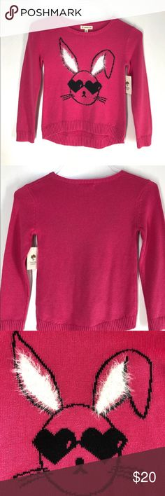 1155762a773f7 NWT Tucker + Tate pink bunny sweater 6 NWT Tucker + Tate bright pink light  weight