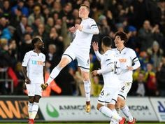 Result: Swansea City put four past West Ham United to bolster survival hopes