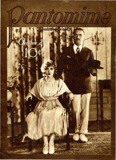 Mary Pickford, Douglas Fairbanks on the cover of Pantomime magazine