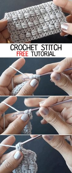Crochet Stitch - CROCHET-HUB Crochet Stitch - CROCHET-HUB Knitting , lace processing is the single most beautiful hobbies that women are unable to gi. Crochet Stitches Free, Stitch Crochet, Knitting Stitches, Free Crochet, Knitting Patterns, Crochet Patterns, Crochet Ideas, Crochet Stitch Tutorial, Different Crochet Stitches