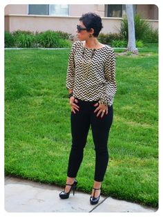 Fashion, Lifestyle, and DIY: OOTD: Refashioned Top + Patent Leather Pumps