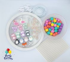 ANIMAL FRIENDS Necklace Party Activity Box - Party Favours Kids Craft Party Activity DIY Necklace Kit Silicone Beads Australia Kid Party Favors, Craft Party, Diy Necklace Kit, Activity Box, Super Cute Animals, Friend Necklaces, Party Activities, Birthday Party Themes, Crafts For Kids