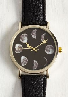 Phase Go By Watch. And still you're thinking about this black watch! #black #modcloth