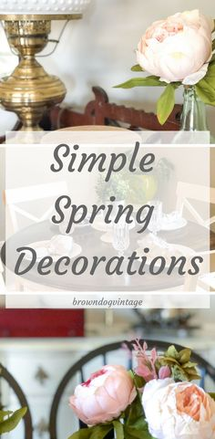 Welcome to the Color Loving Spring Home Tour - join me for some simple spring decorations and ideas to start the new season. Rustic Chic, Rustic Decor, Farmhouse Decor, Rustic Style, Farmhouse Style, Decorating Tips, Decorating Your Home, Diy Home Decor, Country Style Homes
