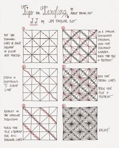 Tickled To Tangle: Tips for Tangling Zentangle Pattern