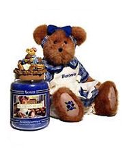 Yankee Candle Bluebeary Muffin 22 oz ,Boyds Bear & Topper Set