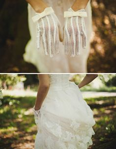 Julia + Yuriy's Nature and Travel Inspired Wedding : Oh my god the gloves. Absolutely lovely.