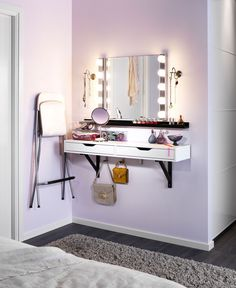 Vanity from IKEA Ekby Alex / vaulter shelf with drawer. http://www.ikea.com/us/en/catalog/products/S49885348/
