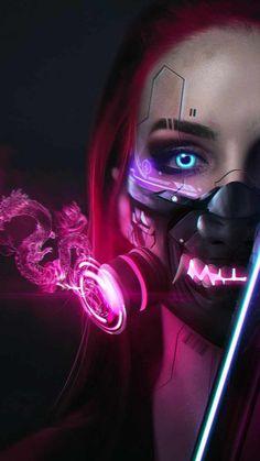 Cyborg Girl - IPhone Wallpapers