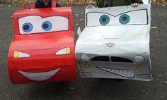Lightening McQueen and Finn McMissile Halloween costumes