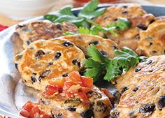 Cowboy Bean Fritters - Bring this appetizer to share at your next summer BBQ. Serve the fritters with some dipping options like salsa and non-fat plain Greek yogurt (a healthier substitute for sour cream). - - -  American Diabetes Association®