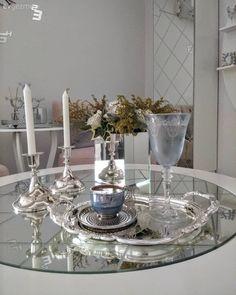 Supla, Baklava ayna, Şamdan, Salon, Dekoratif, Kahve sunumu
