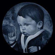 Selfportrait 1980 Acrylic on panel, 2014.