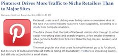 Pinterest Drives More Traffic to Niche Retailers Than to Major Sites