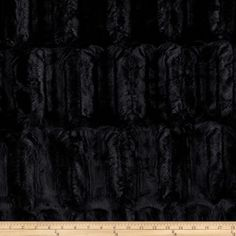 Faux Fur Embossed Beaver Black from @fabricdotcom  Spoil yourself with this exquisite long hair faux fabric. Fur has 15mm pile, a luxurious hand and a soft subtle sheen just like the real thing! Make gorgeous jackets, coats, wraps, fashion accessories, pillows, throws and more!
