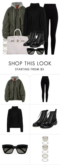 """""""Sin título #12068"""" by vany-alvarado ❤ liked on Polyvore featuring Pepper & Mayne, T By Alexander Wang, Hermès, Yves Saint Laurent and Forever 21"""