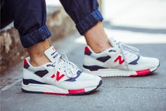 Loving these... J.Crew | Blog: Made in the USA: J.Crew x New Balance® 998 Independence Day sneaker