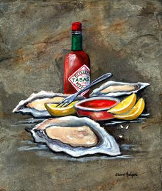 Oysters on the Half Shell Painting