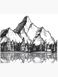 Free cliparts pictures provides you with 18 tree drawing mountain clip arts. All of these Tree drawi Mountain Landscape Drawing, Landscape Drawings, House Landscape, Landscape Design, Drawing Landscapes Pencil, Drawing Scenery, Landscape Sketch, Pencil Art Drawings, Art Drawings Sketches