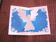 Carte de voeux Ange de Noël en 3D