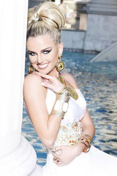 "Miss Arkansas USA 2012 - ""Gardens of Goddess"" photo shoot by Fadil Berisha at Caesar's Palace Las Vegas Hotel & Casino pool."