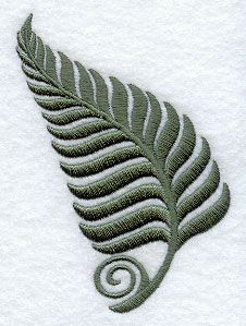 Fanciful Fern Accent design (D5369) from www.Emblibrary.com