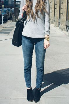 Polka dotted jeans - love!!