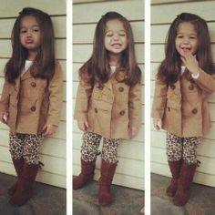 Girls fall/winter fashion,  kid fashion