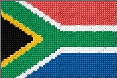 60 x 40 stitches 6 colors Cross Stitch Embroidery, Embroidery Patterns, Knitting Patterns, Crochet Patterns, Cross Stitch Designs, Cross Stitch Patterns, South African Flag, Africa Flag, Cross Stitch Freebies