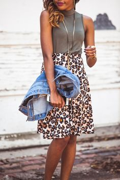 Cheetah Girl  | Live Love and Read | mock neck top, the mock turtleneck trend, fall trends 2016