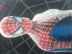 SPIDER MAN COLORED PENCILS