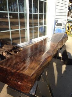 Rough Sawn Lumber Rustic Bench Wood Benches Long Ottoman