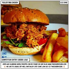 my recipe on the TCC site! BBQ Pulled Chicken Slimming world, weight watchers, healthy eating, delicious food, Slow Cooker Slimming World, Slimming World Recipes, Slimming Eats, Pulled Chicken Recipes, Homemade Bbq, Pulled Pork, Slow Cooker Recipes, Healthy Recipes, Healthy Food