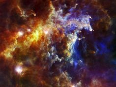 Stellar Nursery in the Rosette Nebula  This image from the European Space Agency's Herschel Space Observatory shows the cloud associated with the Rosette Nebula, a stellar nursery about 5,000 light-years from Earth in the Monoceros, or Unicorn, constellation.