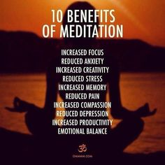 Yoga and meditation has helped me to transform for better. You can the check 10 best benefits of meditation and see how you can benefit by it by practicing it daily. Meditation Mantra, Meditation Benefits, Meditation Practices, Mindfulness Meditation, Guided Meditation, Meditation Crystals, Meditation Corner, Vipassana Meditation, Mindfulness Training