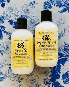 Bumble and bumble Gentle Shampoo and Super-Rich Conditioner. Great for all hair types. Bumble And Bumble Gentle Shampoo, Bumble And Bumble Products, Cleanser, Moisturizer, Hair Type, Conditioner, Transitioning Hair, Living Room, Moisturiser