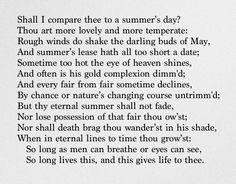 Sonnet XVIII - William Shakespeare