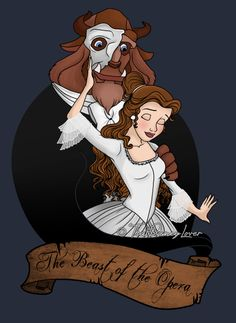 "The Beast of the Opera by ThatDisneyLover.deviantart.com on @deviantART - Crossover between ""Beauty and the Beast"" and ""The Phantom of the Opera"""