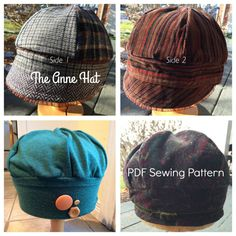 Hat Sewing Pattern The Anne Hat Reversible Hat by nogginshop Pictures Of  Hats 240fe6d030bb