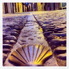 The scallop shell of El Camino de Santiago #elcamino #spain