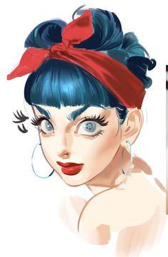 Pretty Art, Cute Art, Japanese Pop Art, Digital Painting Tutorials, Poses, Anime Art Girl, Amazing Art, Art Reference, Design Art