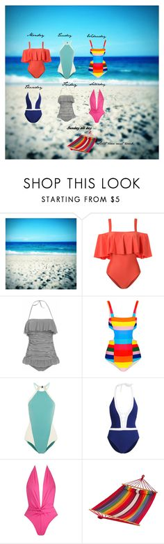 """Life on the Beach"" by babygirltrice ❤ liked on Polyvore featuring ADRIANA DEGREAS, Mara Hoffman, Flagpole, Ralph Lauren, Norma Kamali and BLISS Hammocks"