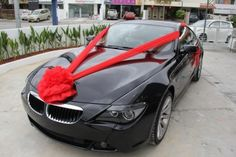 Car Decoration  ~ By: Elegant Scent http://www.wedding.com.my/category-florist-and-decorations/7