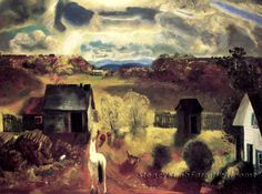 The White Horse ~ Landscapes ~ Cross Stitch Pattern #StoneyKnobFarmHeirlooms #Frame