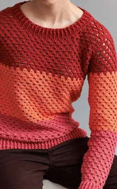 Cute Crochet Jumper With A Clean And Classic Look