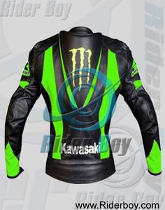 Kawasaki Monster Motogp Motorcycle Leather Jacket