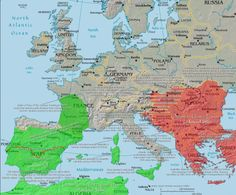 - Maximum reach of Islamic conquest in Europe.