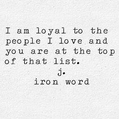 j. iron word DM