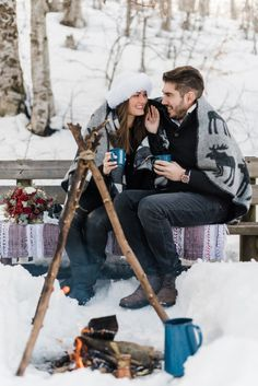 Alpine Snowy Engagement at the Vermion Mountains, no, not Vermont from the Sates, but close enough! What better than to enjoy this snowy hygge love story? Winter Engagement, Engagement Session, Vermont, Mountains, Bergen