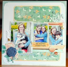 Happenings on this side river: August Kit layout, 3 photos.